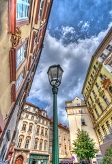Nose up in Prague (Fil.ippo) Tags: city building up architecture lens nose prague wide praha praga architettura hdr filippo citt palazzi sigma1020 d5000