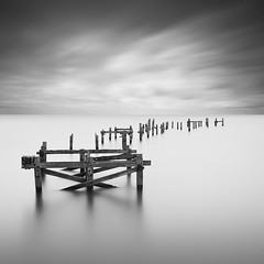 The Old Pier (Weeman76) Tags: uk longexposure sea bw seascape monochrome mono le dorset southcoast swanage minimalist oldpier nd110 paulwheeler afszoomnikkor2470mmf28ged silverefexpro2 paulsimonwheeler