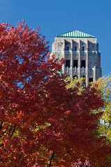 "bell tower and red maple • <a style=""font-size:0.8em;"" href=""http://www.flickr.com/photos/30765416@N06/6361264021/"" target=""_blank"">View on Flickr</a>"