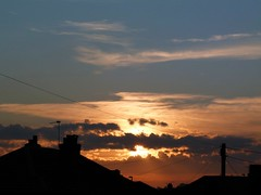 sunset @ 15:27 today (Samantha (Sam)) Tags: autumn sunset sky clouds rooftops