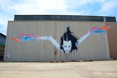 Winging It (Mr Clicker / Davin) Tags: street art island graffiti nikon mr sydney australia davin cockatoo clicker outpost exhibiton d700