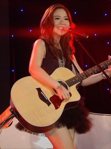 Sabrina Live at Greyson Chance 1