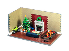 Christmas At Home (Carson Hart) Tags: christmas storm trooper tree home coffee stockings bike basketball dinner table happy fire newspaper cozy chair lego baseball soccer bat couch wreath gift presents stormtrooper skateboard motor merry coffe diorama