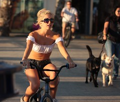 Beach cruiser girl in halter top (San Diego Shooter) Tags: portrait sandiego streetphotography pacificbeach girlonbike sandiegopeople sandiegostreetphotography
