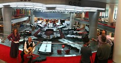 Dame Emma Kirkby and Ian Gammie perform for the cameras in New Broadcasting House (Steve Bowbrick) Tags: bbc dameemmakirkby guitar haydn intune london newbroadcastinghouse newsroom portlandplace radio3 video emmakirby baroque music cafemozart bbcradio3 nbh