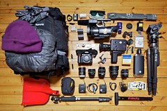 Gear for the backcountry (Teemu Lahtinen) Tags: camera lens video nikon tripod gear equipment backpack backcountry super8 gitzo jvc nizo