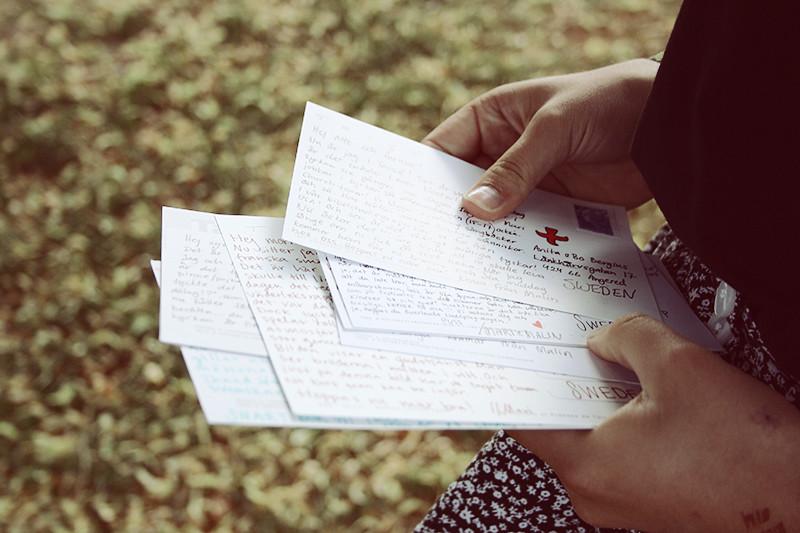 Postade några vykort