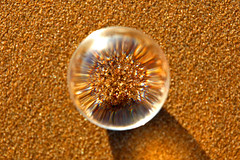 Focussing on the sand, Scheveningen  - The Netherlands / Crystal ball (kees straver (will be back online soon friends)) Tags: light sea 6 holland macro reflection beach netherlands glass strand canon ball eos pier sand europa crystal bokeh scheveningen nederland zee denhaag explore sphere refraction thehague challenge crystalball keesstraver 5dmarkii