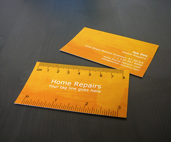 Handy Business Card with Ruler (Verdana variation)