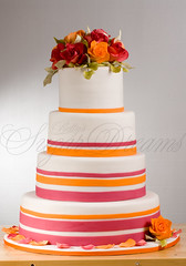 Pink & Orange (Bettys Sugar Dreams) Tags: pink wedding orange white orchid green rose cake germany singapore hamburg vine betty grapes orchidee hochzeitstorte filmreel sleepyhollow polymer schablone caketop hochzeitstorten filmrolle damast tortenfiguren bettyssugardreams bettinaschliephakeburchardt stenceling