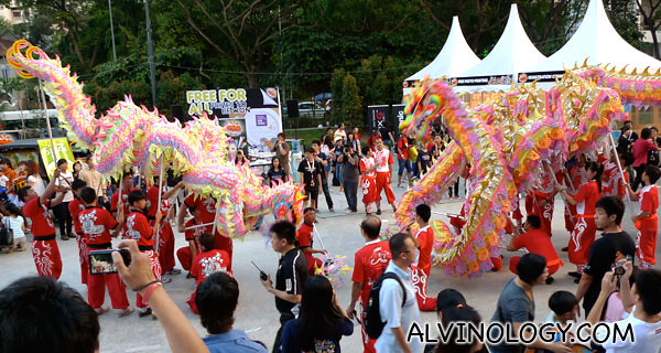 Two dragons meet at Scape