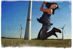Catch the windmill (nathaliehupin) Tags: portrait windmill girl fille elisa eolienne enercon estinnes photographebruxelles nathaliehupin windvision photographeluxembourg juillet2011 girljumpingamongwindmills photographehainaut photographenamur photographeliege photographemons photographebelgique wwwnathaliehupinbe wwwnathaliehupingraphismebe