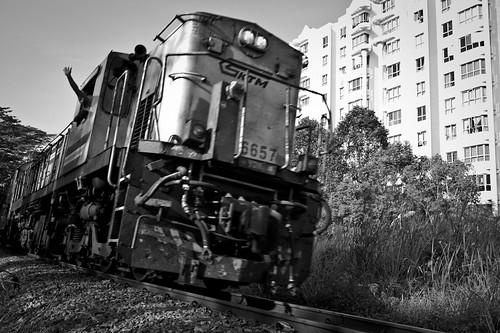 Approaching KTM Train