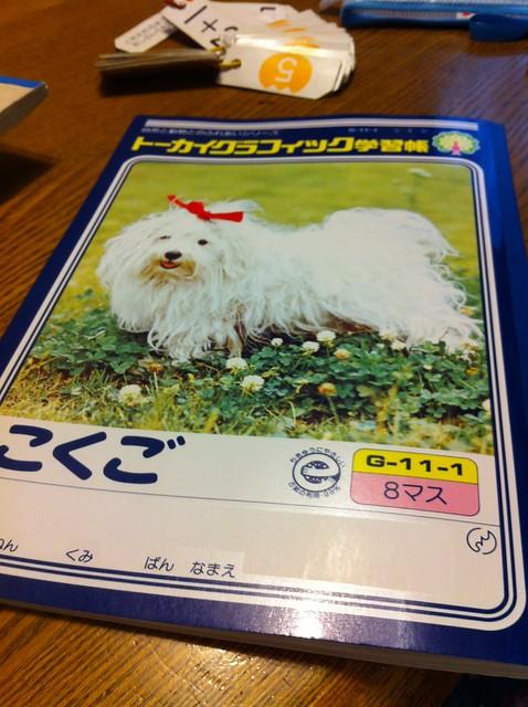 志穂の8ますの国語ノート、130円