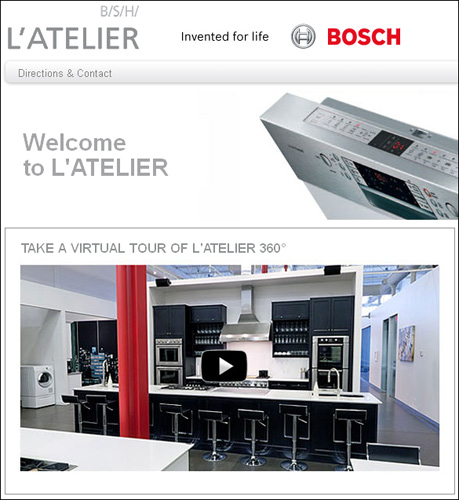 Bosch products at L'Atelier