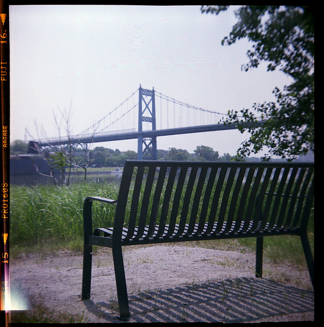 Park Bench and Bridge