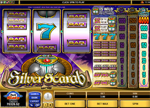 Silver Scarab slot game online review