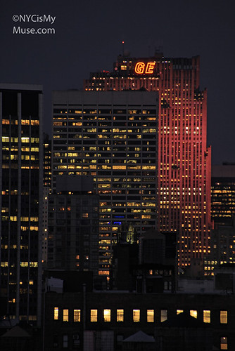 30 Rock lit up in Pink for Estee Lauder Breast Cancer Awareness Initiative