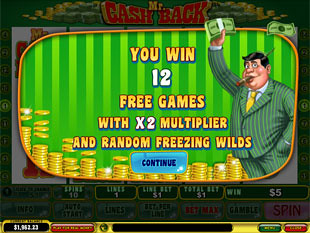 free Mr. Cashback slot bonus