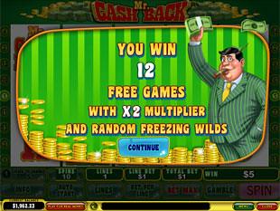 free Mr. Cashback slot bonus
