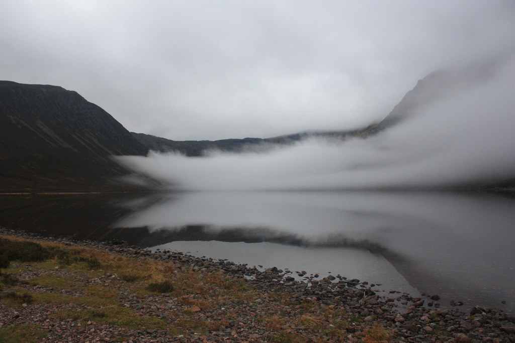 Last of the cloud in Glen Einich