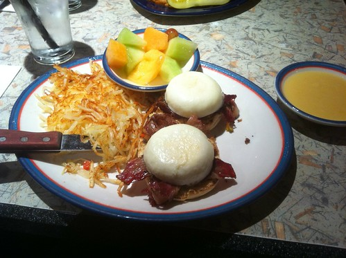 Smoked Brisket Eggs Benedict by raise my voice