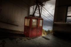 Cable car top :: (andre govia.) Tags: ski abandoned car buildings view decay cable andre explore alpine sanatorium asylum derelict hospita govia
