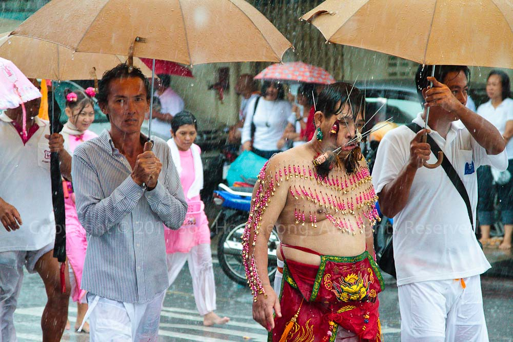 Street Procession @ Phuket Vegetarian festival 2011, Phuket, Thailand