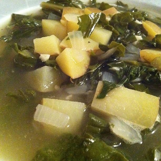 Garlic & greens soup