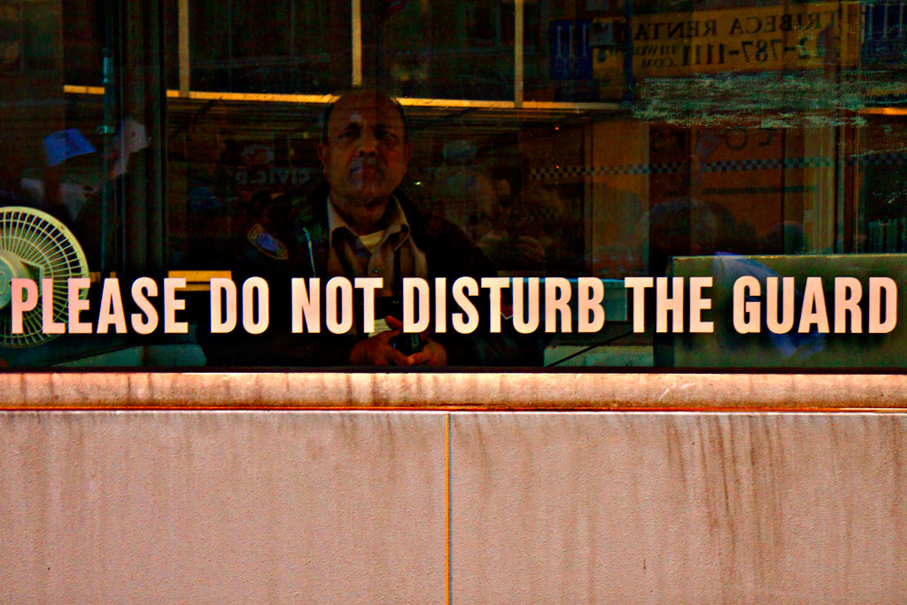 PLEASE-DO-NOT-DISTURB-THE-GUARD--Manhattan