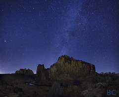 Smith Rock at Night (Ben Canales) Tags: longexposure oregon smithrockstatepark landscapeastrophotography bencanales