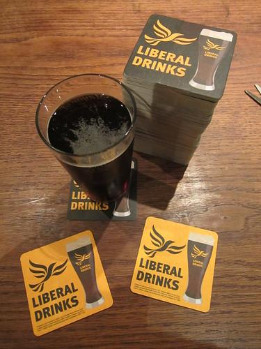 Liberal Drinks beermats safely arrived