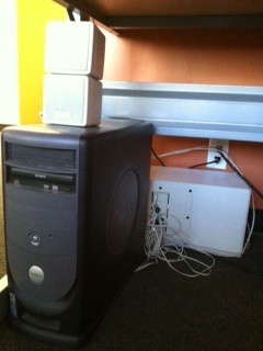 picture of computer and sound system