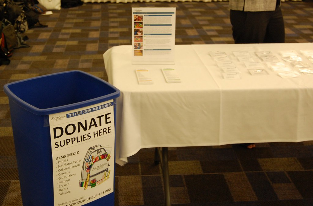 Supply Drive Donations Booth