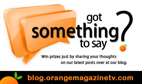 Monthly Giveaway for Comment Postesrs over at Orange Magazine TV's blog