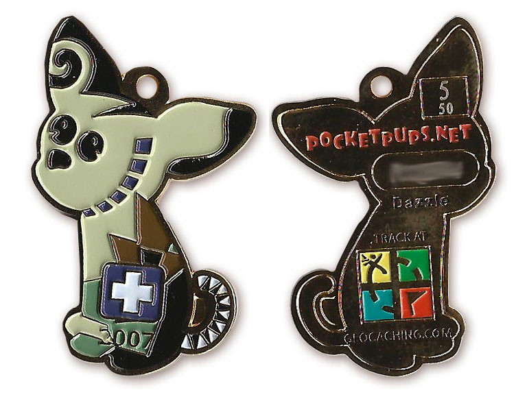 Geocoin - Pocketpups.net Dazzle Gold