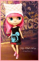 Blythe Outfit - Mickey Sleeveless T-Shirt Dress