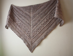 New shawl design:  it's about time! (phydeaux designs) Tags: texture beige handknit knittingpattern shawl chunky neutral autumnfall worstedweight phydeaux triangleshawl phydeauxdesigns knittingknitknitted madelinetoshvintagedk
