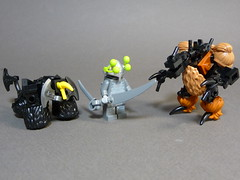 The Aliens (Stormbringer.) Tags: lego alien creature prehistoric moc tablescrap
