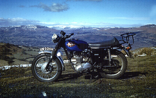BSA B25 Starfire  Brecon Beacons March 1970