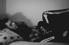 Corpses (thisisforlovers) Tags: boy bw love halloween girl skeleton photography 50mm costume bed nikon hug chica close pareja sleep amor bn lovers esqueleto disfraz cerca chico fotografia corpse nikkor 18 cama dormir abrazo partners d7000 andreadorantes