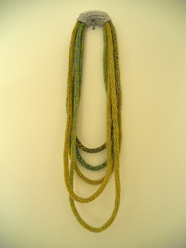 Gepunnikte ketting / Necklace, French knitting by evanstra