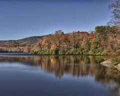 A lake scene along the Blue Ridge Parkway. (Ken'sKam) Tags: usa ridge allnaturesparadise blueridgeparkwayblue mountainsfallfoliageautumnreflectionnaturenorth carolinausasouthern