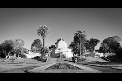 conservatory of flowers (sebboh) Tags: sanfrancisco goldengatepark bw panorama stitch conservatory trail vapor sonya55 rokkormcpg58mmf12