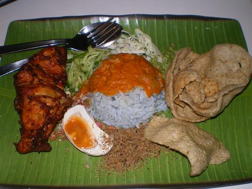 Nasi Kerabu Ayam Goreng