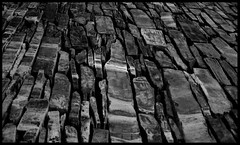 slates (Bruce Poole) Tags: blackandwhite rock stone grey mono form slate