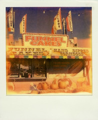 Funnel Cakes (Nick Leonard) Tags: vegas blue autumn sky food orange fall film window analog polaroid hotdog colorful lasvegas treats nevada nick pumpkins flags scan sweets snacks pumpkinpatch funnelcakes corndogs landcamera polaroidsx70 polaroidlandcamera instantfilm handdipped snackstand epson4490 firstflush colorshade nickleonard polaroidsx70model2 theimpossibleproject ndpackfilter px680ff stumillerspumpkinpatch