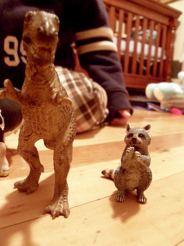 T-Rex and Raccoon