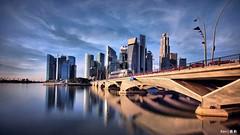 Singapore Skyline #7 (kengoh8888) Tags: bridge reflection skyline sunrise singapore thegalaxy mygearandme mygearandmepremium mygearandmebronze dblringexcellence tplringexcellence bmorning