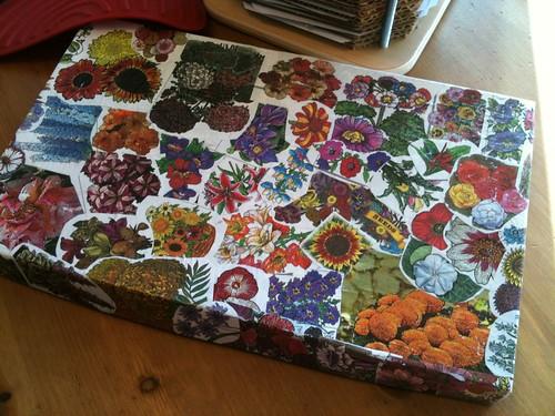 flower box decoupage